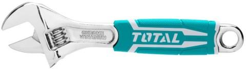 Klíč nastavitelný, 200mm, CrV, industrial TOTAL
