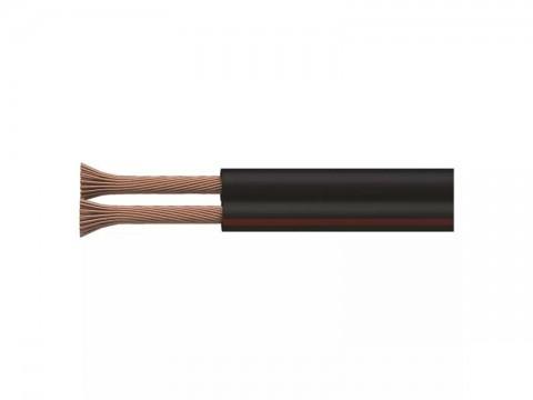 Dvojlinka netienená 2x0,75mm čierno / červená, 100m