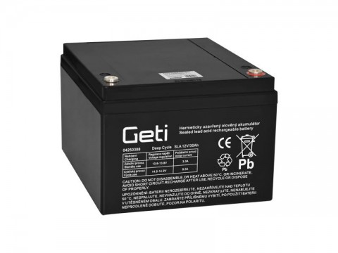 Batérie olovená 12V 30Ah Geti pre elektromotory