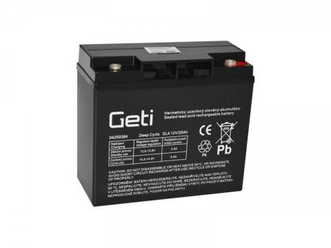 Batérie olovená 12V 20Ah Geti pre elektromotory