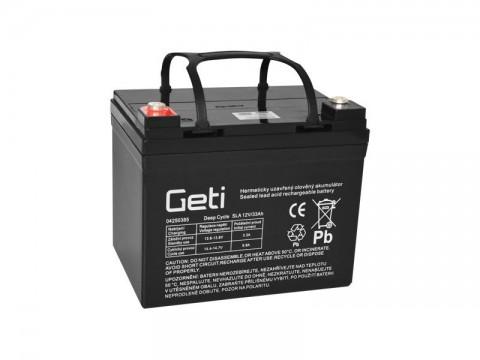 Batérie olovená 12V 33Ah Geti pre elektromotory