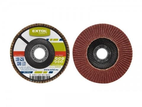 Kotouč lamelový šikmý korundový, P80, 125mm, KORUND, EXTOL CRAFT 260028