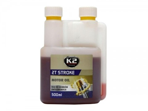 Olej K2 TEXAR 2T STROKE 500ml červený