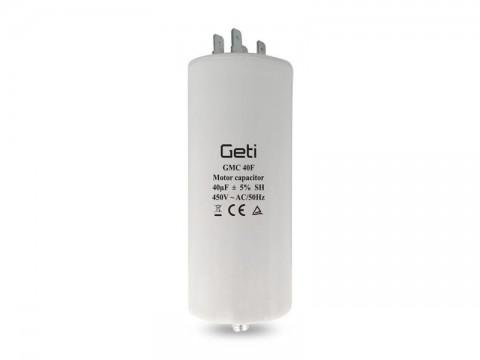 Kondenzátor rozbehový motorový 40uF 450V GETI GMC 40F