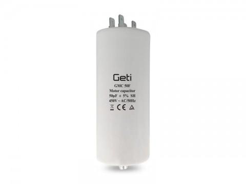 Kondenzátor rozbehový motorový 50uF 450V GETI GMC 50F
