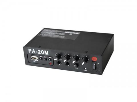 Zesilovač SHOW PA-20M, 20W/4Ω, prehrávač MP3