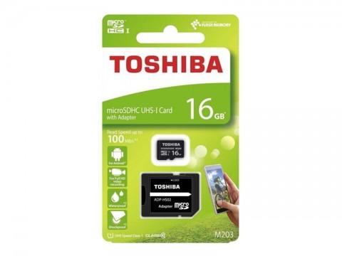 Karta pamäťová TOSHIBA micro SD UHS-I 16 GB s adaptérom