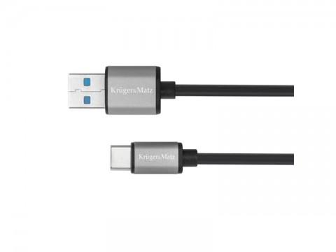 Kábel KRUGER & MATZ KM1244 5G, USB - USB C kábel 1m