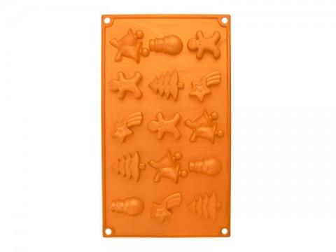 Forma ORION Christmas silikón oranžová