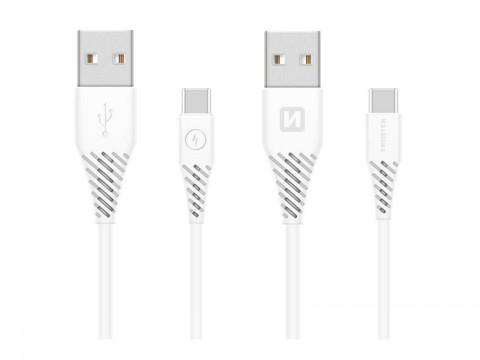 Kábel SWISSTEN 71504400 USB/USB-C 3.11,5m biely