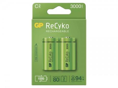 Batérie C (R14) nabíjacie 1,2V/3000mAh GP Recyko  2ks