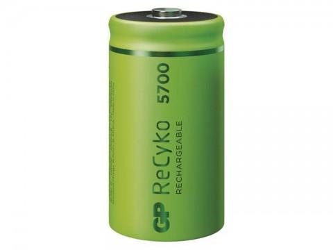 Batérie D (R20) nabíjacie 1,2V/5700mAh GP Recyko  2ks