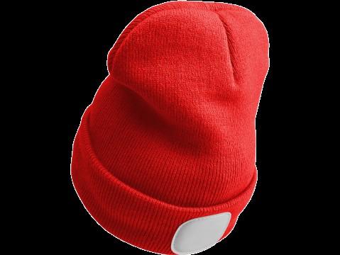 Čepice s čelovkou 45lm, nabíjecí, USB, univerzální velikost, červená SIXTOL