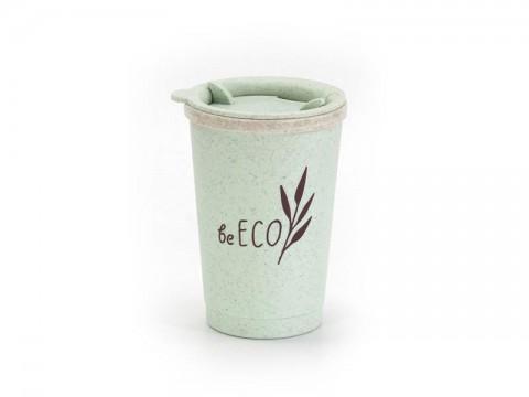 Kelímok s viečkom G21 beECO Espresso 280ml zelený