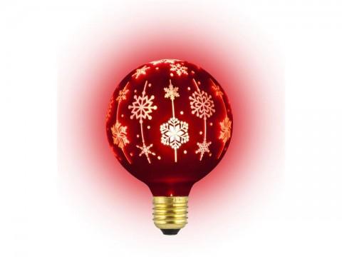 Žiarovka vianočná LED E27 4W G95 biela teplá RETLUX RXL 368 červená