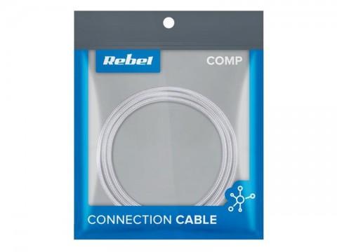Kábel REBEL USB / USB-C RB-6001-050-W 0,5m biely