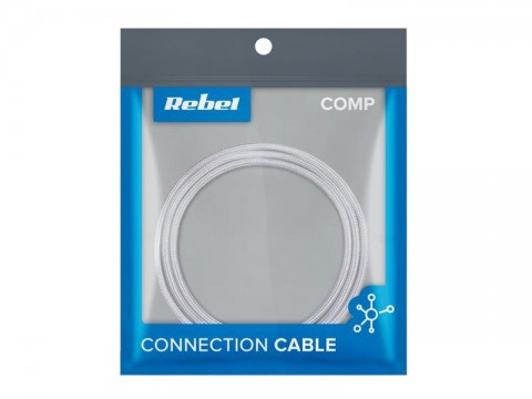Kábel REBEL USB / Micro USB RB-6000-050-W 0,5m biely