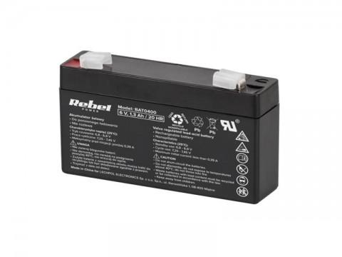 Baterie olověná   6V/ 1.3Ah REBEL