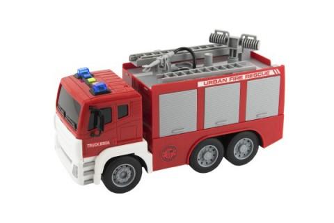 Detské hasičské auto na zotrvačník TEDDIES so zvukom a svetlom 32 cm