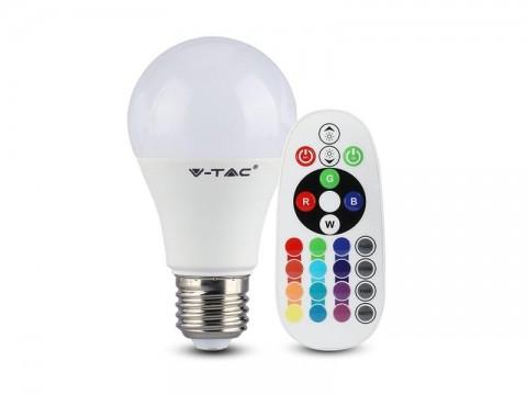 Žiarovka LED E27 9W A60 RGB + 3000K V-TAC VT-2229