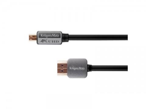Kábel KRUGER & MATZ KM0327 HDMI - micro HDMI 1,8 m