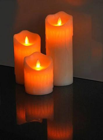 Vosková LED sviečka LTC 17,5cm