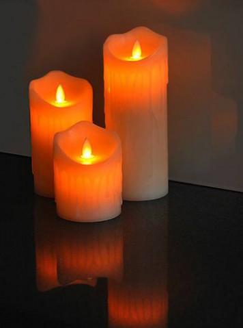 Vosková LED sviečka LTC 15cm