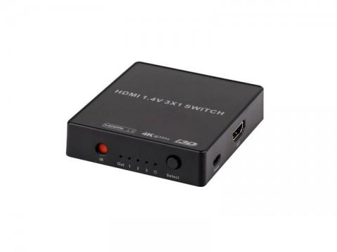 Prepínač 1x HDMI - 3x HDMI URZ0971