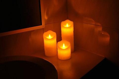 Vosková LED sviečka LTC 12,5cm