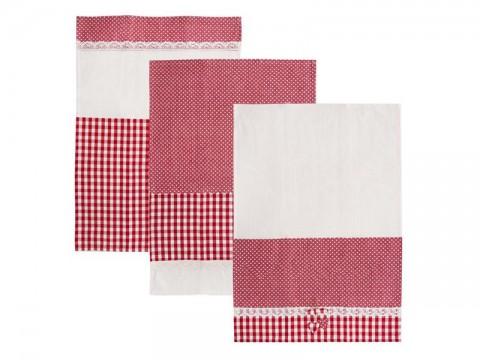 Utierka ORION Dot Gifty bavlna 3ks červená