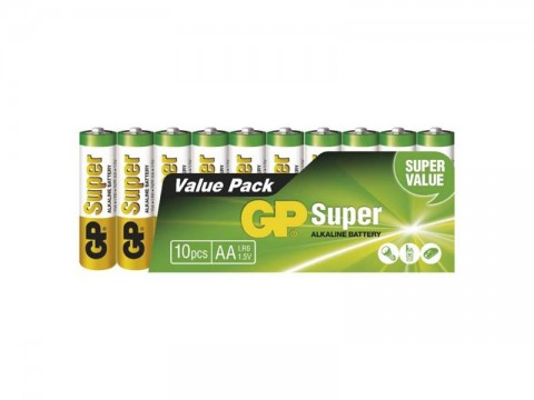 Batérie AA (R6) alkalická GP Super Alkaline  10ks