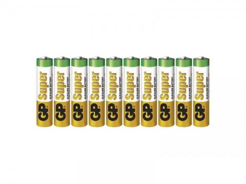 Batérie AAA (R03) alkalická GP Super Alkaline 10ks