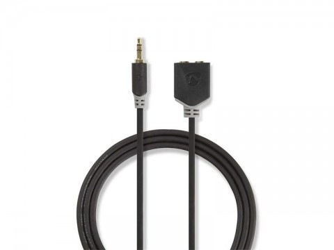 Kábel NEDIS JACK 3.5 konektor/JACK 3.5 konektor 0.2m