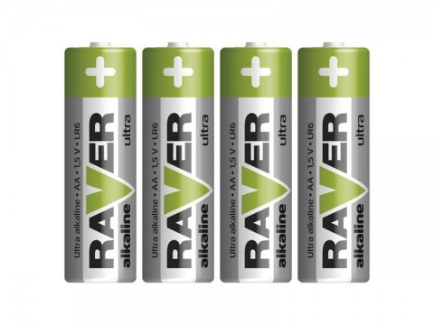 Batérie AA (R6) alkalická RAVER  4ks