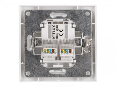 Zásuvka počítačová RETLUX RSB A88F AMY