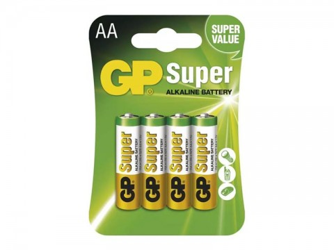 Batérie AA (R6) alkalická GP Super Alkaline  4ks