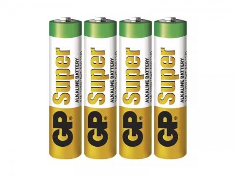 Batérie AAA (R03) alkalická GP Super Alkaline  4ks