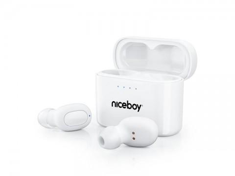 Slúchadlá Bluetooth NICEBOY HIVE Podsie 2021 POLAR WHITE