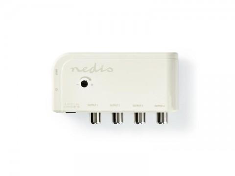 Anténny zosilňovač NEDIS SAMP40045WT 10 dB 4 výstupy