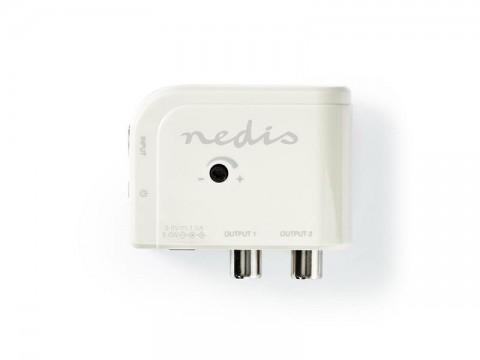 Anténny zosilňovač NEDIS SAMP40025WT 15 dB 2 výstupy