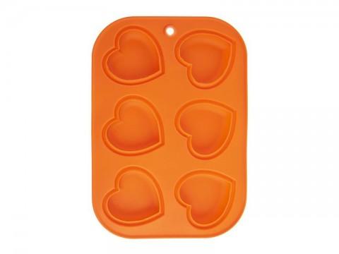 Forma ORION Muffiny srdce oranžová