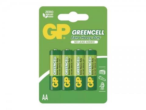 Batérie AA (R6) Zn-Cl GP Greencell  4ks