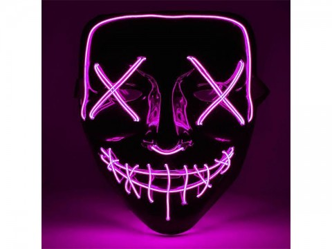 Maska svietiace 4L ružová