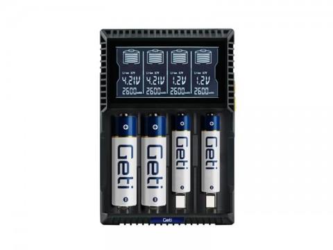 Nabíjačka batérií Geti GDC4U Li-Ion LiFePO4 NiCd NiMH
