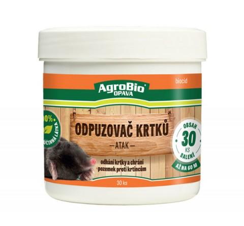 Odpudzovač krtkov AgroBio Atak 30ks