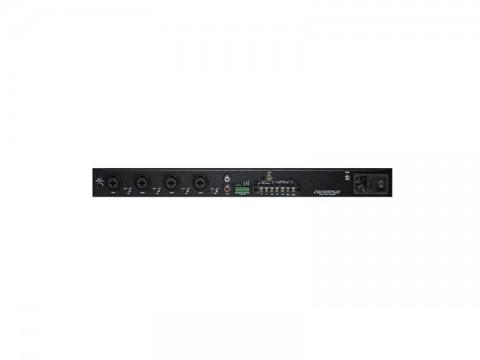 Zosilňovač SHOW PAX-240, rack, 240W / 4Ω / 70V / 100V, 5 kanálový zmiešavač