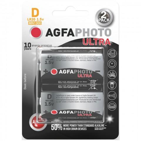 AgfaPhoto Power Ultra batéria LR20/D, blister 2ks