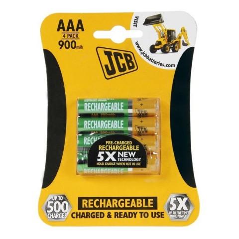 JCB RTU NiMH AAA/R03, 900mAh, prednabitá, blister 4 ks