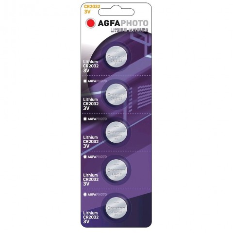 AgfaPhoto gombíková lithiová batéria CR2032, blister 5ks