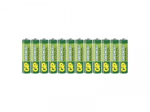 Batérie AAA (R03) Zn-Cl GP Greencell 12ks